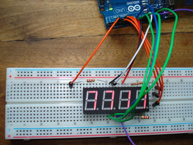 4-digit 7-segment LED display Hackadayio